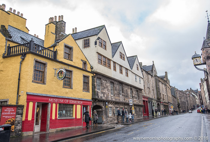 The Royal Mile, going from Holyrood Palace to Edinburgh Castle