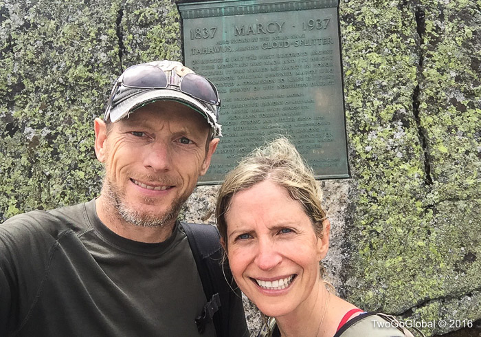 The 5,344' summit of Mt Marcy