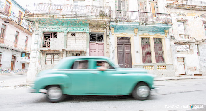 High speed through the streets of Havana