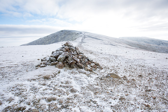 Well marked trail to the summit of Helvellyn