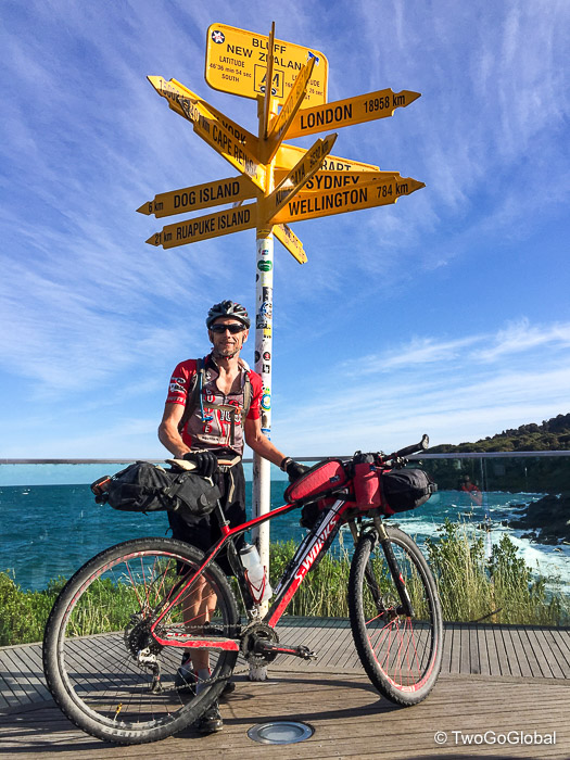 3000km later at Stirling Point