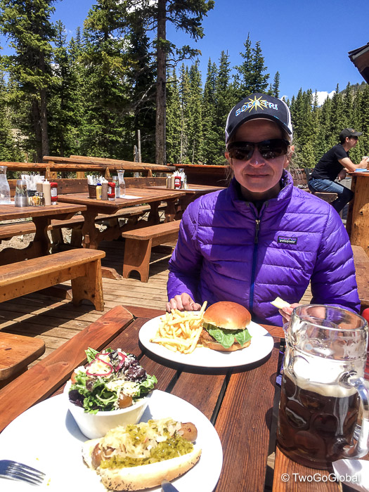 A well deserved post hike lunch