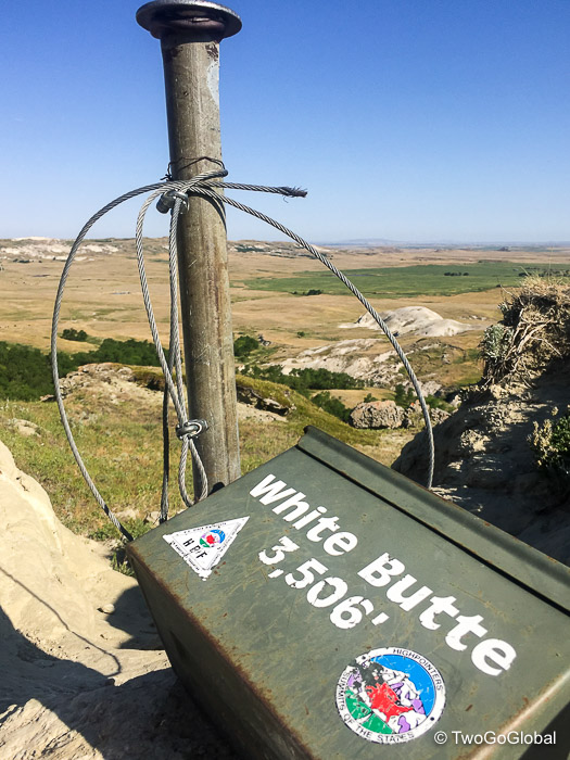White Butte at the top of North Dakota