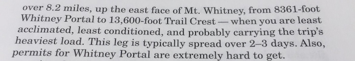 Excerpt from 'GUIDE TO THE John Muir Trail'