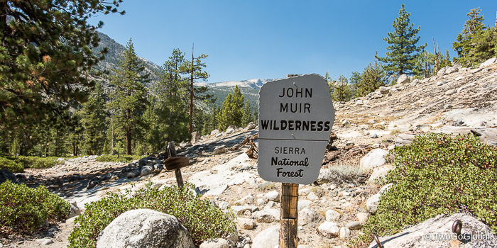 Entering into John Muir Wilderness country