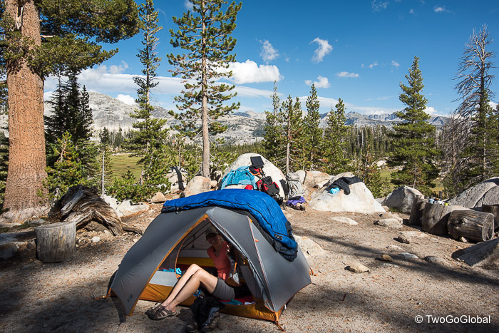 "One of the many ""best campsites"" we stayed at on the JMT"