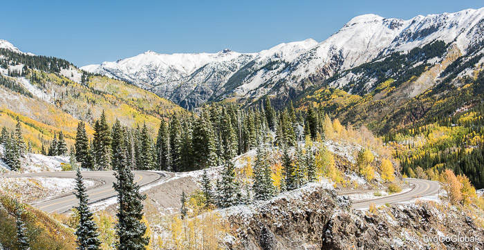 Fall along the aptly named Million Dollar Highway from Silverton to Ouray
