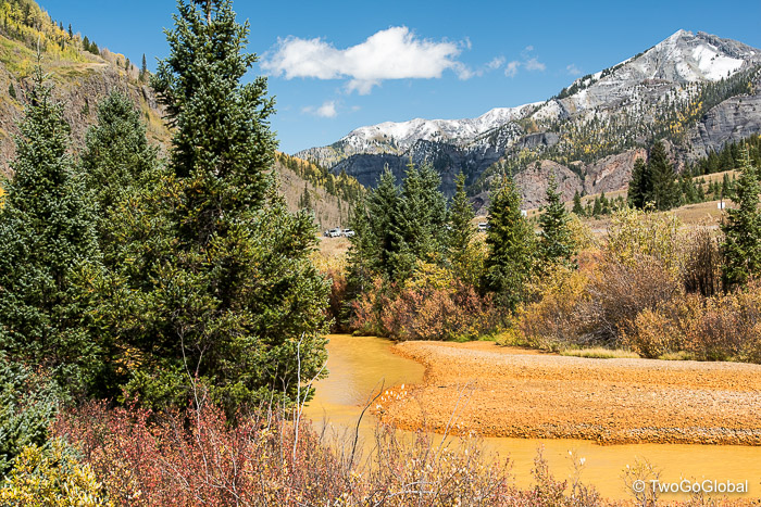 Mining runoff adding to the Fall colors!