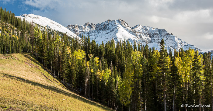 Looking out from the Telluride Gondola