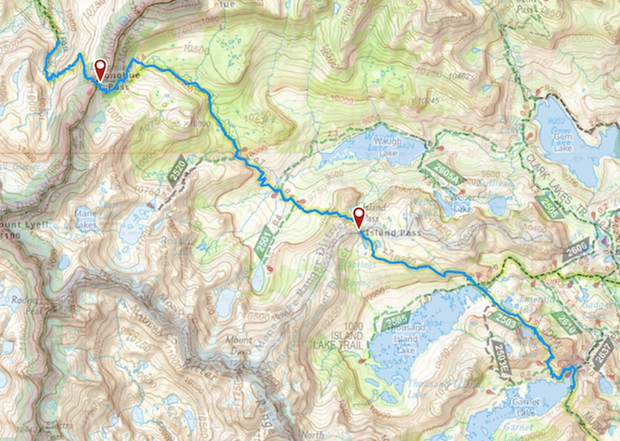 Day 13 route map