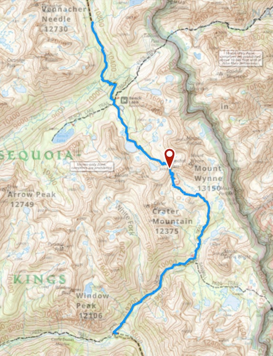 Day 5 route map