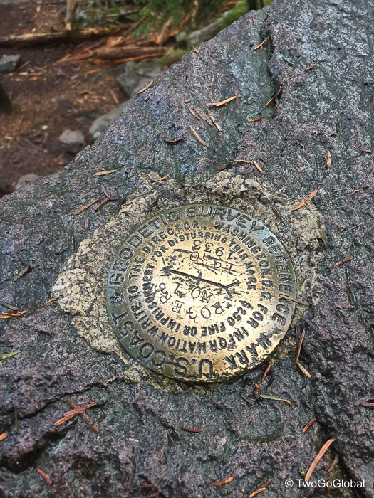 Summit survey reference marker