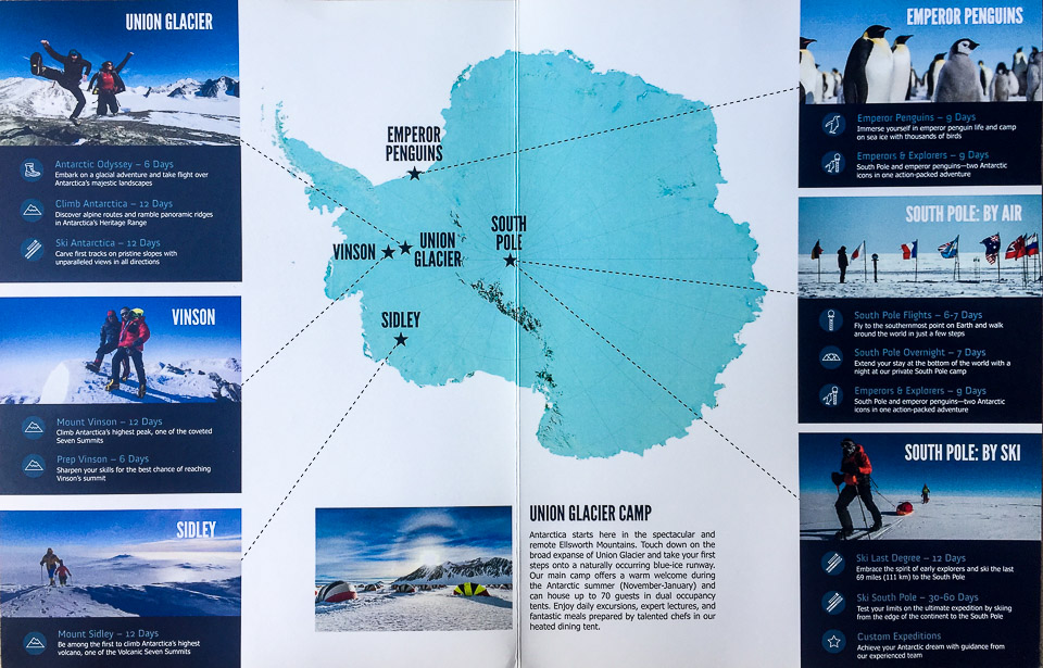 A fully loaded Antarctica ALE Brochure