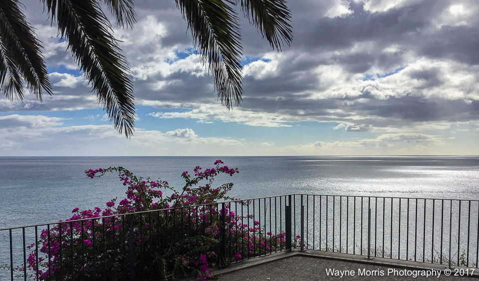 View from one of Funchal's many miradors, looking out over the Atlantic Ocean